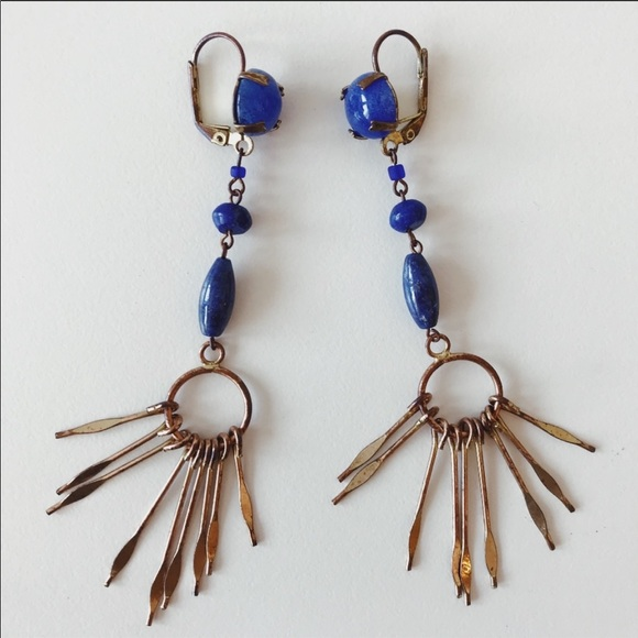 4351e36bd2 Isabel Marant Jewelry | Jacque Multi Stone Lazuli Earrings | Poshmark